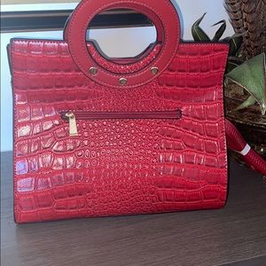 Beautiful Faux Red Leather Purse